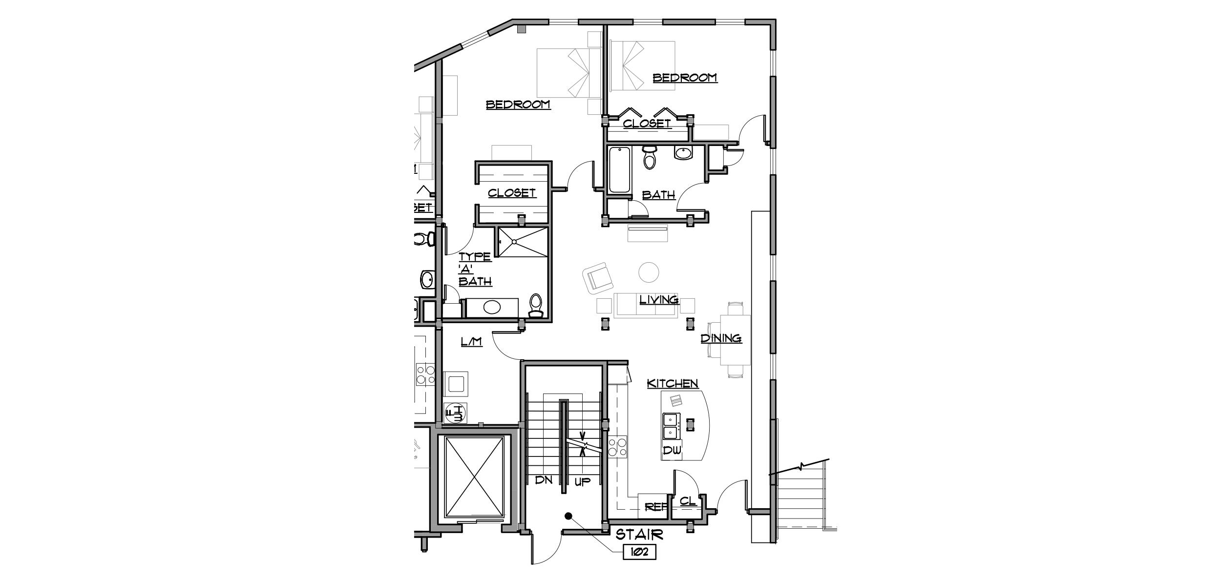 Birkett Landing Keuka Lake Outlet Apartments 108 Plan